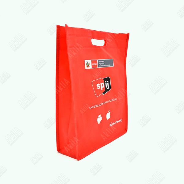 bolsa de notex rojo con fuelle