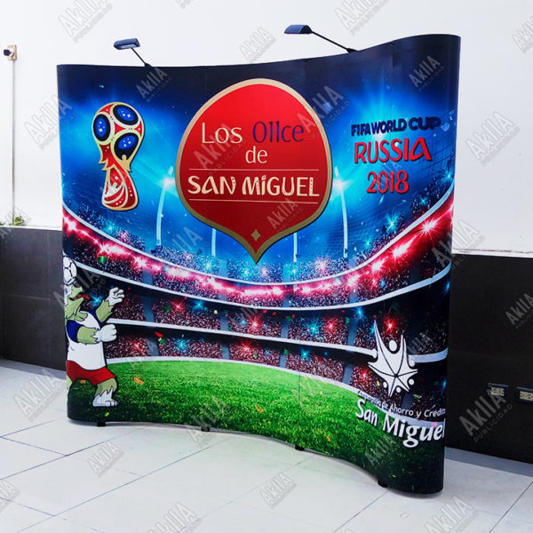 display wall curvo