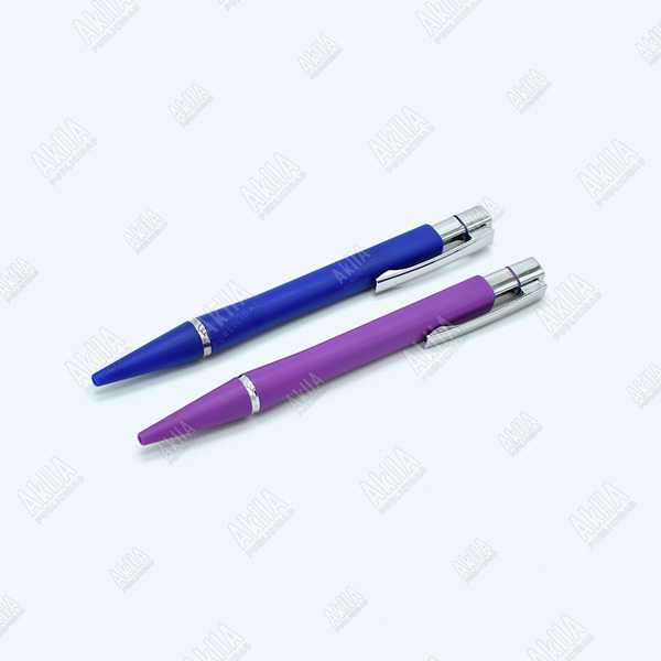 lapiceros publicitarios personalizados morado azul