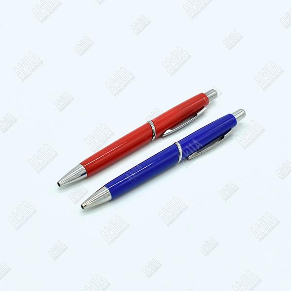 lapiceros publicitarios personalizados rojo azul