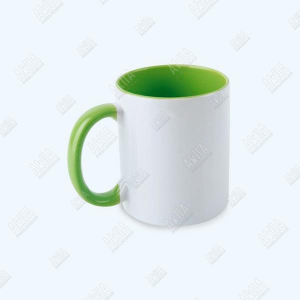tazas publicitarias color verde