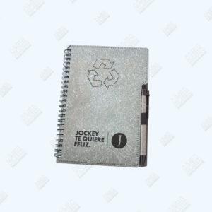 libreta ecologica color gris personalizada