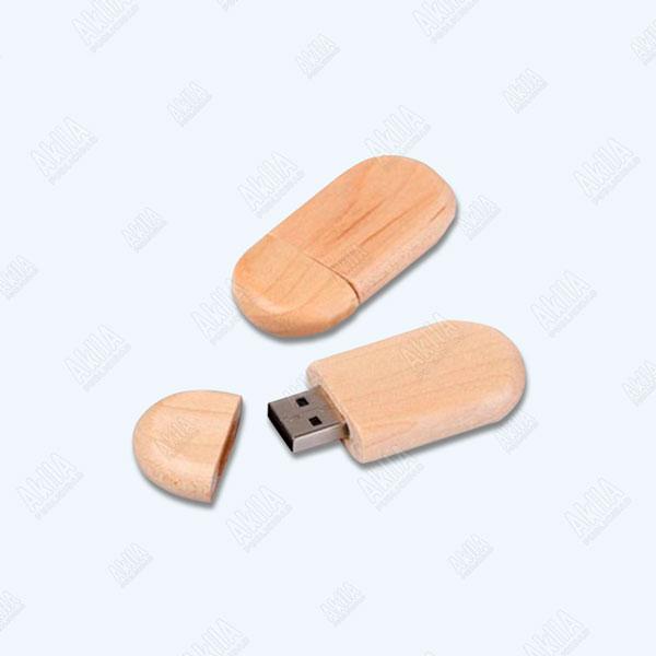 memoria usb de madera personalizada