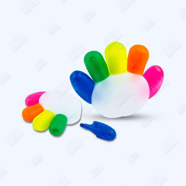 resaltador personalizado forma de mano